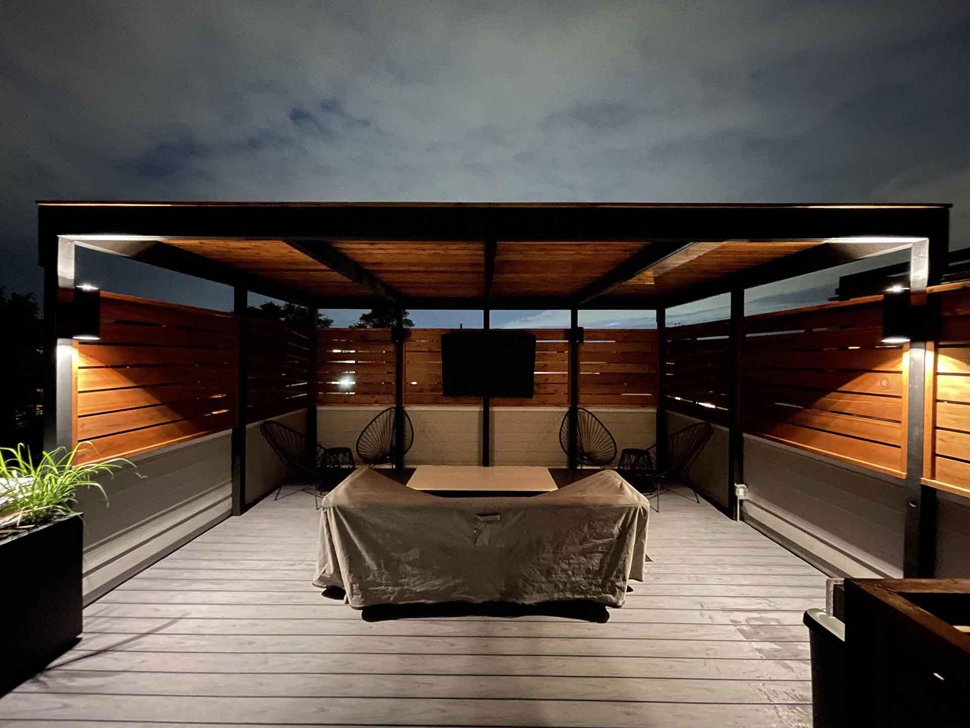Unique Deck Builders Pavilion Project